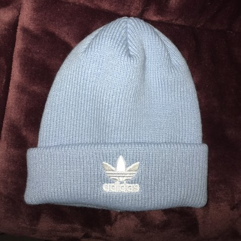 eca9868653a4f Never worn baby blue adidas beanie!! In perfect condition is - Depop