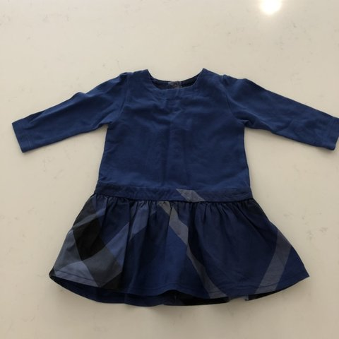 8792f7bc2bfb Baby Burberry girls dress s 6 months - Depop