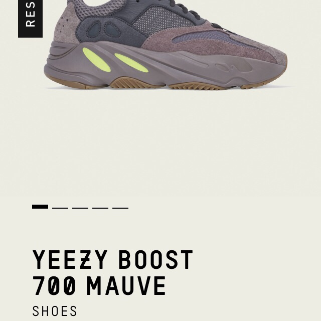 Adidas Yeezy Boost 700 Mauve . Will collect Depop