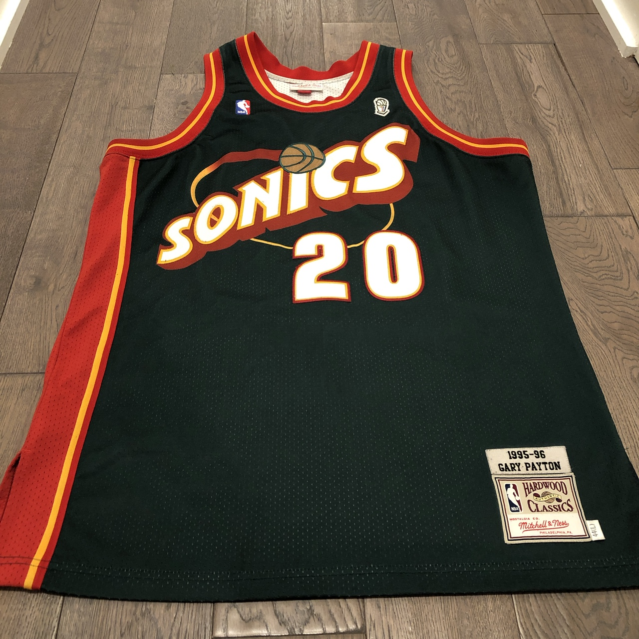 new products 6ff19 eda4d Gary Payton Mitchell and Ness Super Sonics Jersey.... - Depop