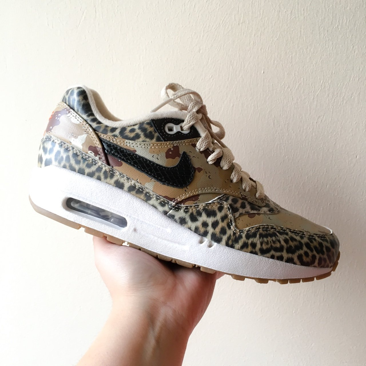 new products fdded 1c3a2  goelie. 3 years ago. Amsterdam, Nederland. Nike Air Max 1 PRM Atmos Desert  Camo Leopard ...