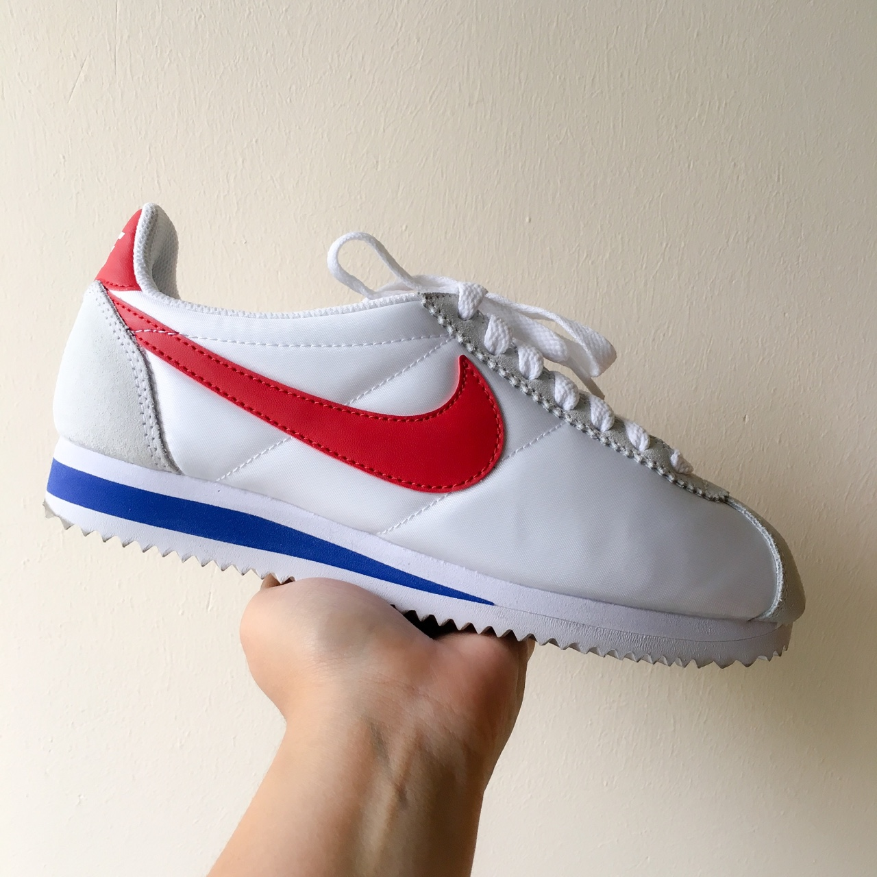 brand new 0549d ebb96 Nike Cortez Nylon white/red. Condition 9/10. With... - Depop