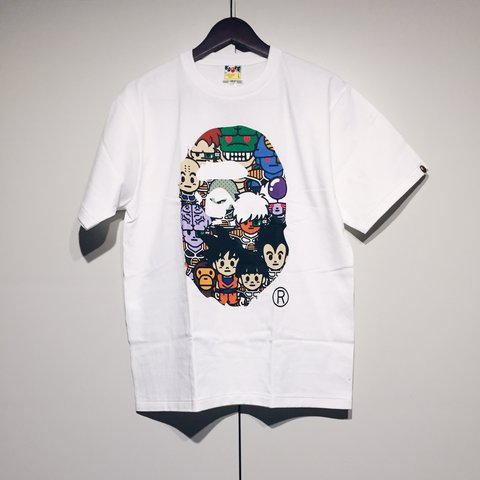 8e6bfeddd Bape x DBZ Baby Milo Ape Head Size L | Deadstock Comes with - Depop