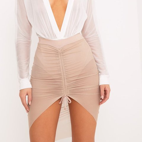 ce0490369 @bethduffner. 2 years ago. South Gloucestershire, UK. Charla nude ruched  mesh mini skirt. Pretty little thing. Never been warn brand new with tags