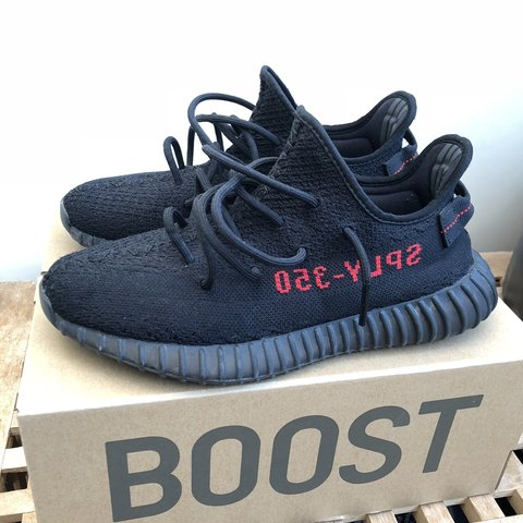 4d7734f9b Yeezy 350 v2 Bred (Black Red) Size uk 7.5 Only worn a few - Depop
