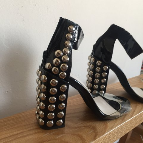 52e6214dd4c Sweet Jeffrey Campbell studded heels with clear toe strap