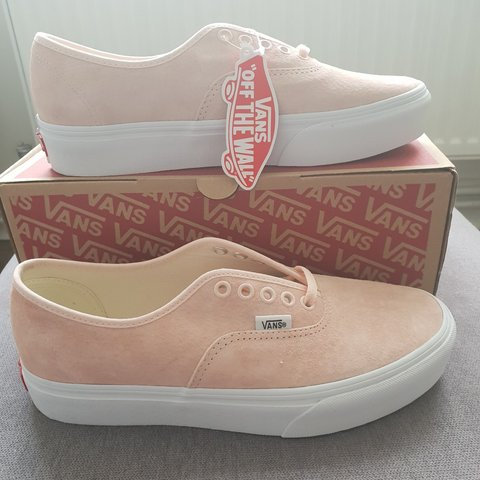 e8ce03ed9610 Vans authentic platform. Pink suede. Size UK 7. Brand new - Depop