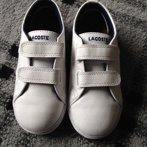 ce99a3d94dae Brand new toddler Lacoste Sport Ortholite white trainers. UK - Depop