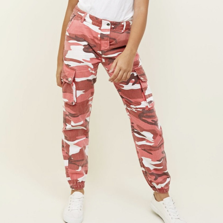 hot-selling clearance high quality materials well known New look pink camo trousers. Only worn once to an... - Depop