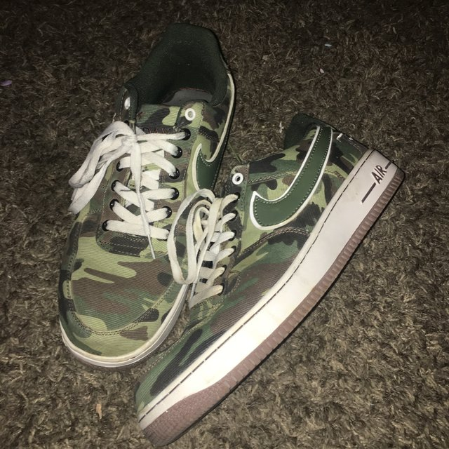 Nike Air Force 1 Camo Gore Tex ATF Bespoke By All Depop