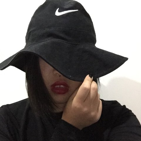 113f26f81ea Vintage Nike bucket hat with string for your neck but can be - Depop