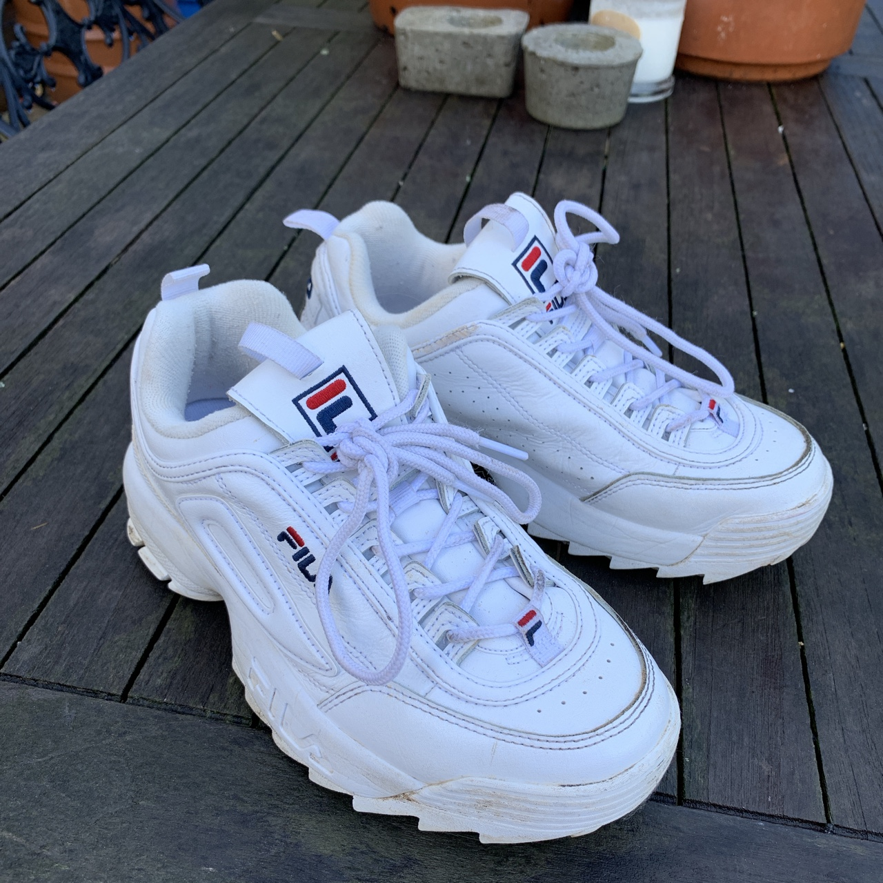 FILA DISRUPTORS super cute chunky stompers to go