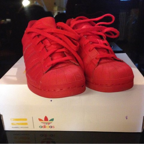 Vendo Adidas Superstar Supercolor rosse. - Depop c364f93b456