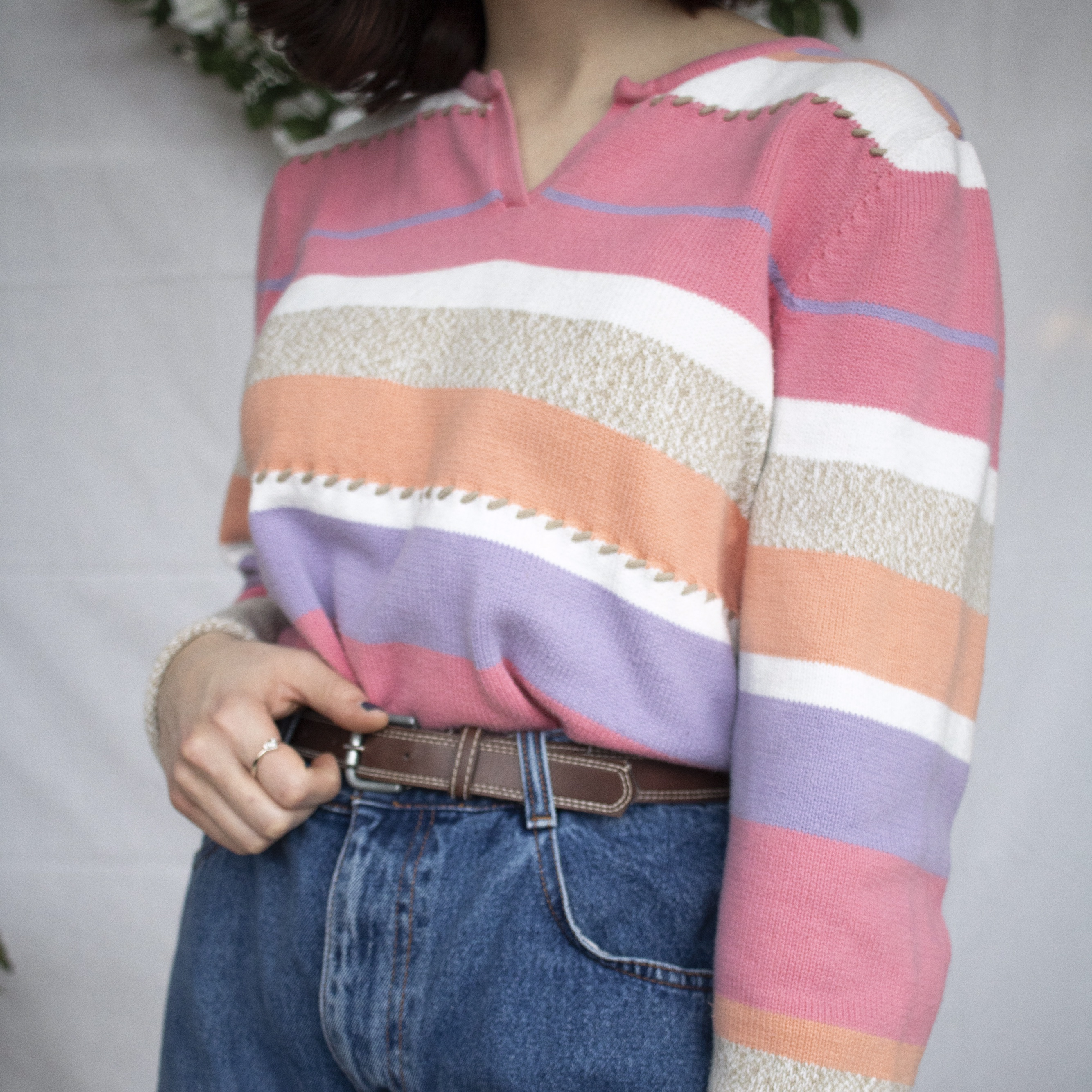 Crazy Horse Pastel Rainbow Striped Pink Purple And Depop