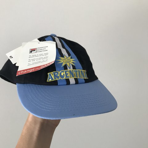 1965a1bf960 Argentina Cap for 1998 France World Cup Official Merchandise - Depop