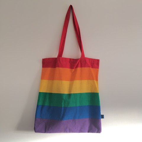 Image result for flying tiger rainbow tote bag