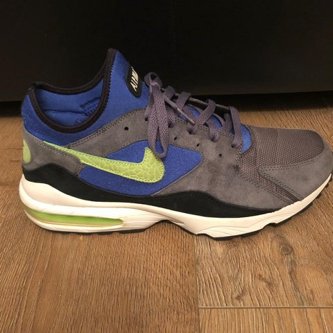 check out d524d 15acd Nike Air Max 93 Grey Royal Blue Lime- 0