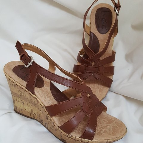 b4e1da4628db BOC Sandals. Perfect for Spring. Brown with cork 3 1 2 - Depop