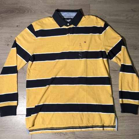ce02ab67 @strangelyinteresting. 5 months ago. Commerce, United States. NEW WITH TAG TOMMY  HILFIGER MENS CLASSIC FIT LONG SLEEVE POLO SHIRT ...