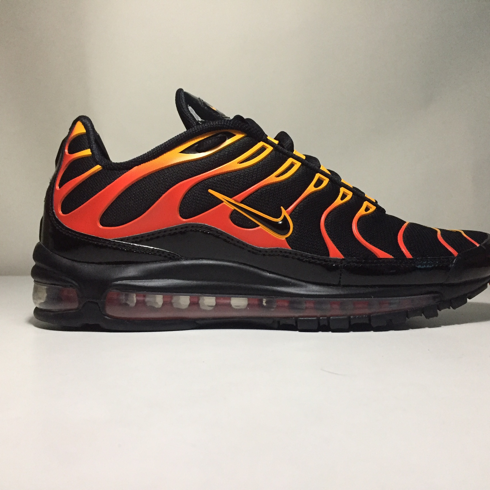 check out f021f 8fa23 Nike Air Max 97 Plus Shock Orange Year: 2018 SKU:... - Depop