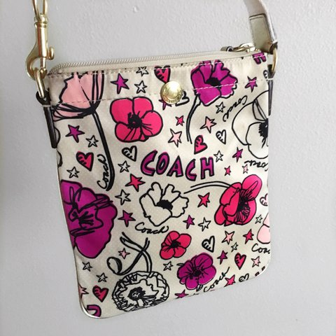 Cross Body Coach Poppy Purse Very Good Condition Pink Depop