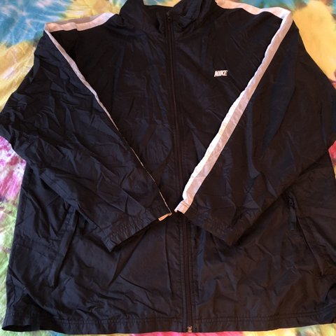 34d3d8030 @wholelottasauce. 5 months ago. United States. Black Nike zip up windbreaker  track jacket.