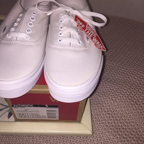 Vans Authentic in True White. brand new   never worn! size 1 - Depop f20907076