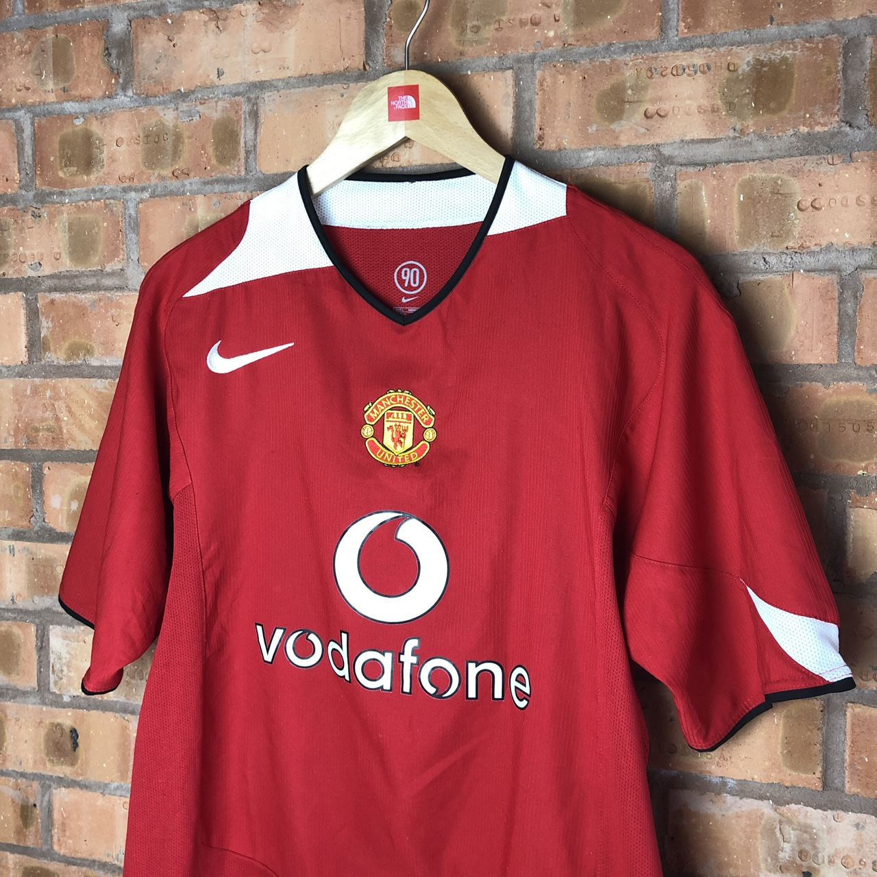 quality design a9a1b 716cd Manchester United vintage home playing shirt... - Depop