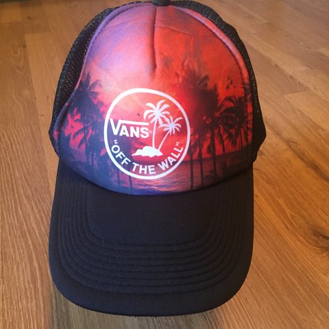 4a7f47d4 @justashirt. 23 days ago. Sarasota, United States. VANS off the wall Trucker  hat. Adjustable Excellent condition