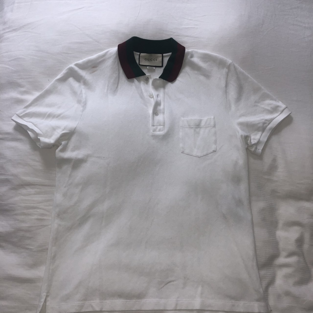 d4b2a7b3 @designeroutlet1000. last month. Salford, United Kingdom. Gucci collar men's  polo T-shirt. Size large