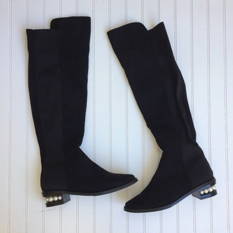 33de96356 @danicasdress. 7 months ago. Reno, United States. Catherine Malandrino Over  the knee black boots