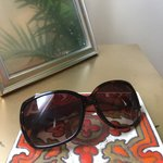 17004ada3f03c Ann Taylor Loft navy and silver sunglasses. Wire frame with - Depop