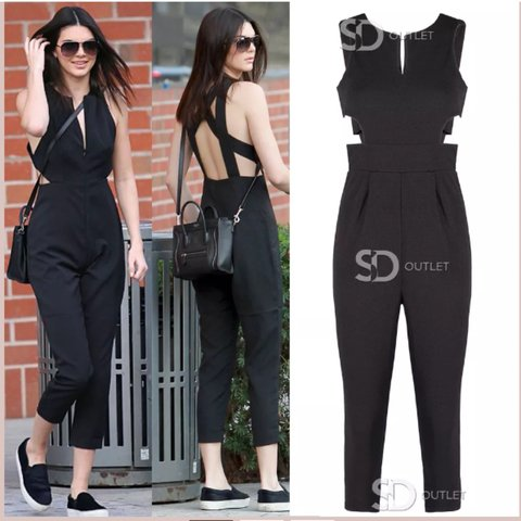 Seen On By Kendall Jenner Side Cut Out Sleeveless Jumpsuit Depop