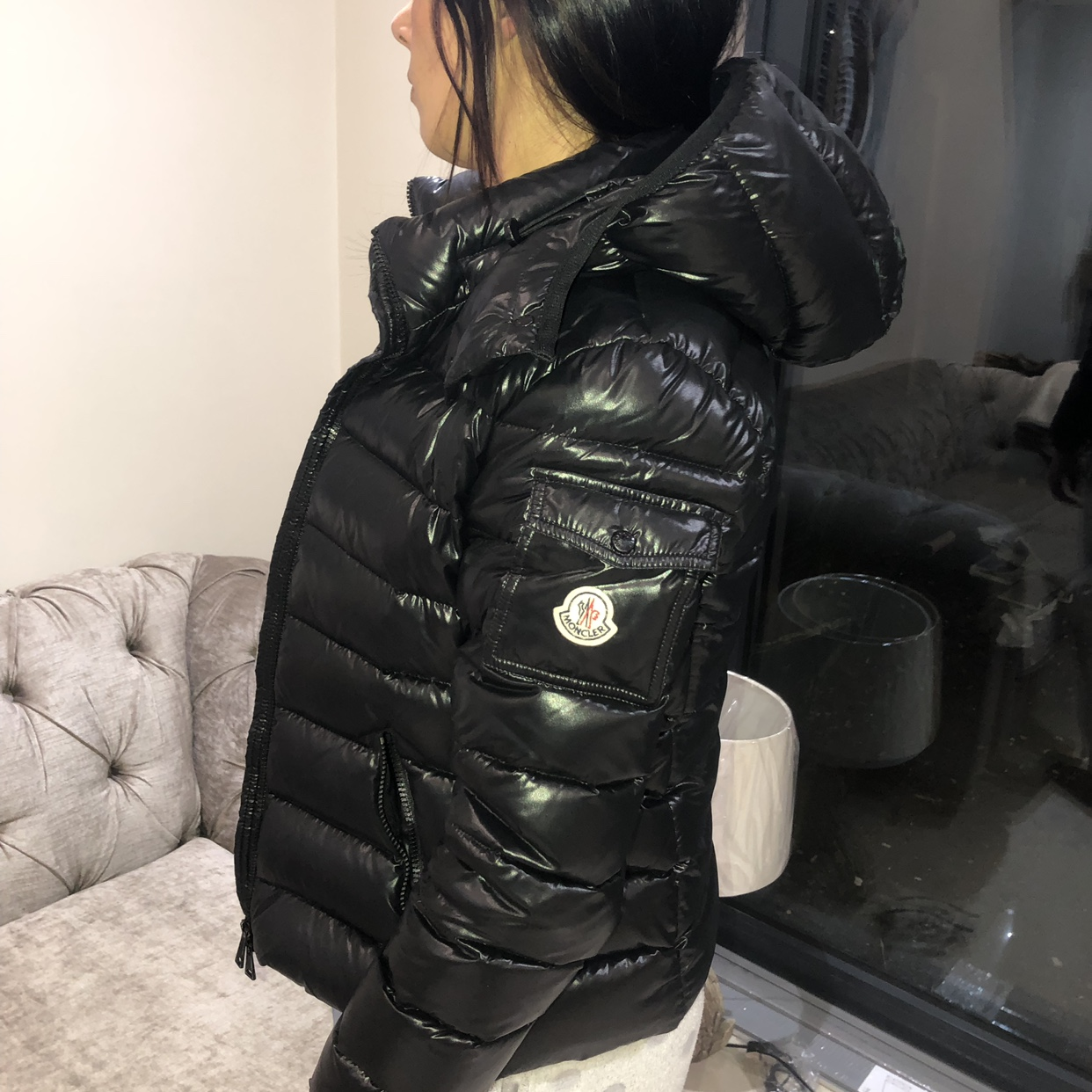 new product 11f35 7f795 WOMENS MONCLER BADY COAT. Black, size 2, (which is... - Depop