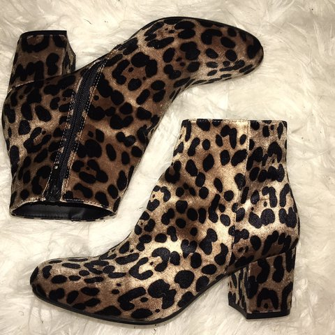 0c4ad631b6b4 @brooklynth. 7 months ago. Forest Grove, United States. faux cheetah print  booties ...