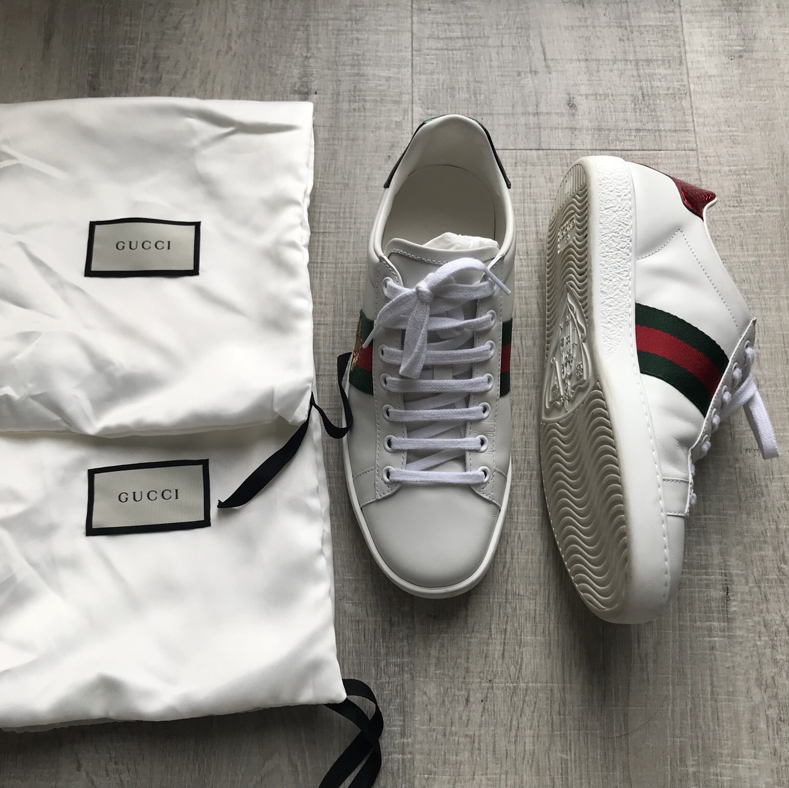 Gucci Ace Bee Embroidered Trainers