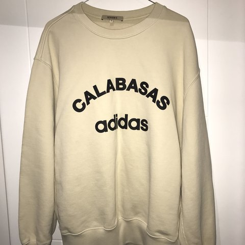 40bfb9270 Adidas Yeezy Calabasas season 5 beige sweater. In perfect a - Depop