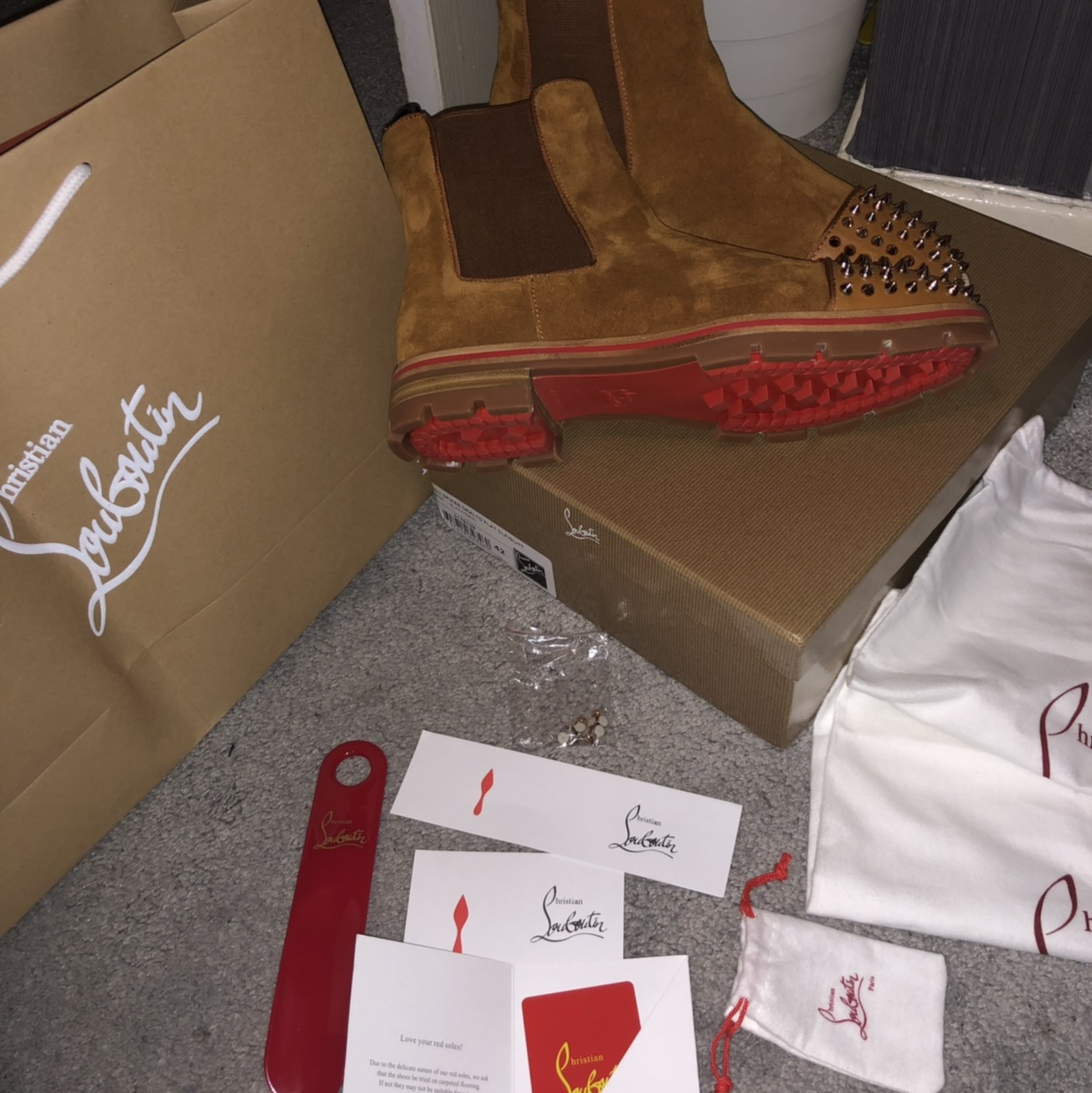 wholesale dealer 59397 e600b Christian Louboutin Reduced To Clear Chelsea Boots... - Depop