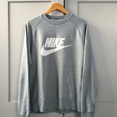 6e76763abdd5c Grey sweatshirt   long sleeve top   jumper from Nike UK - Depop