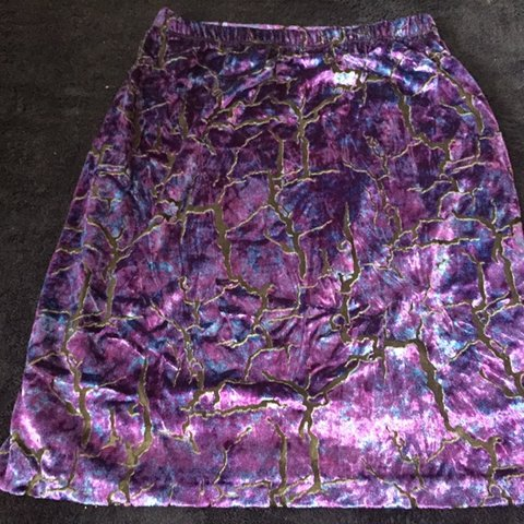 26b1fcce84 Vintage purple velvet skirt, Brand is NICOLE MILLER, new, 4, - Depop
