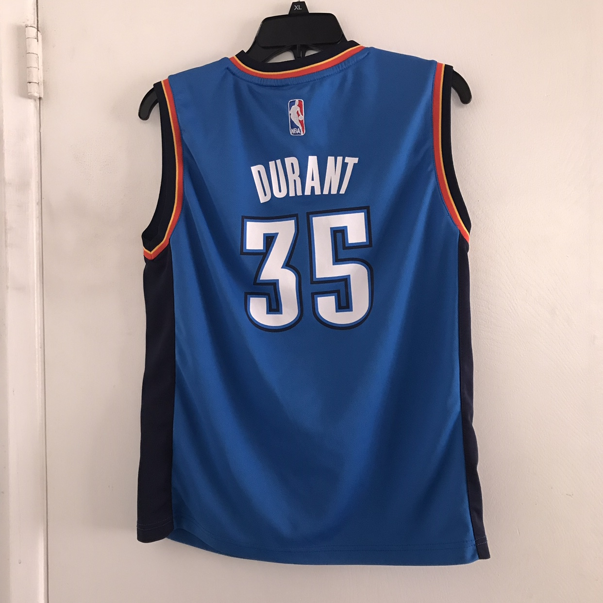 super popular beb1e c9a35 Adidas Kevin Durant OKC Jersey Youth L (Adult... - Depop