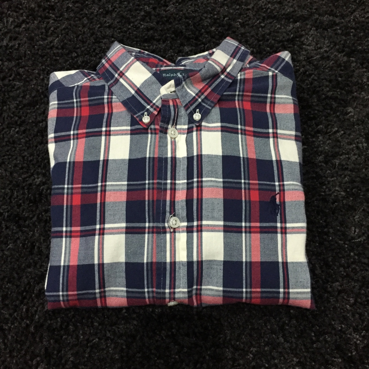 Ralph Lauren plaid checker shirt size small kids xl Depop