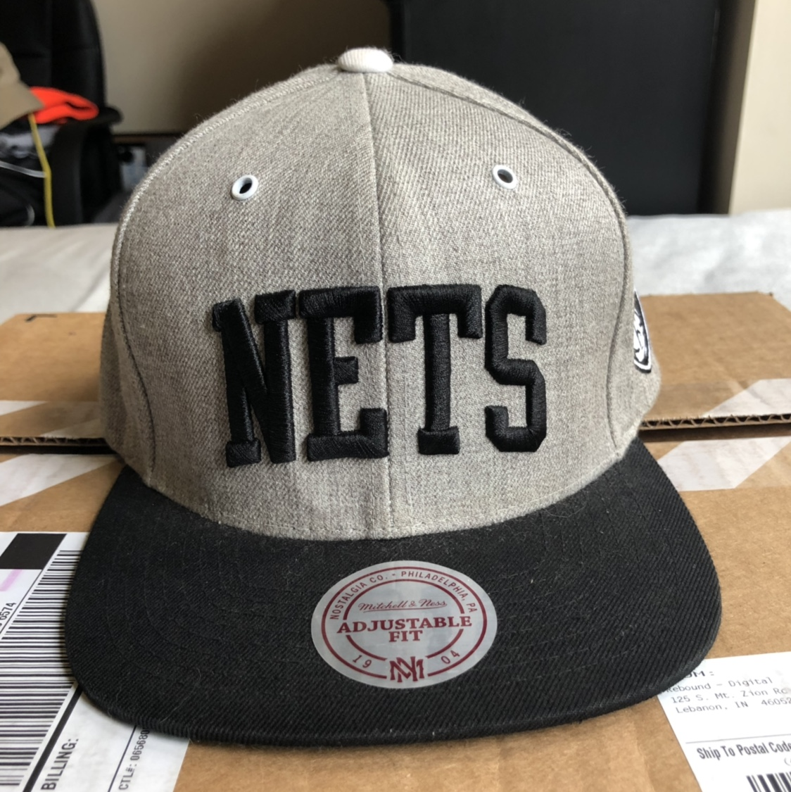 the best attitude df598 bbd6b New Jersey Nets Mitchell & Ness Snapback - Depop