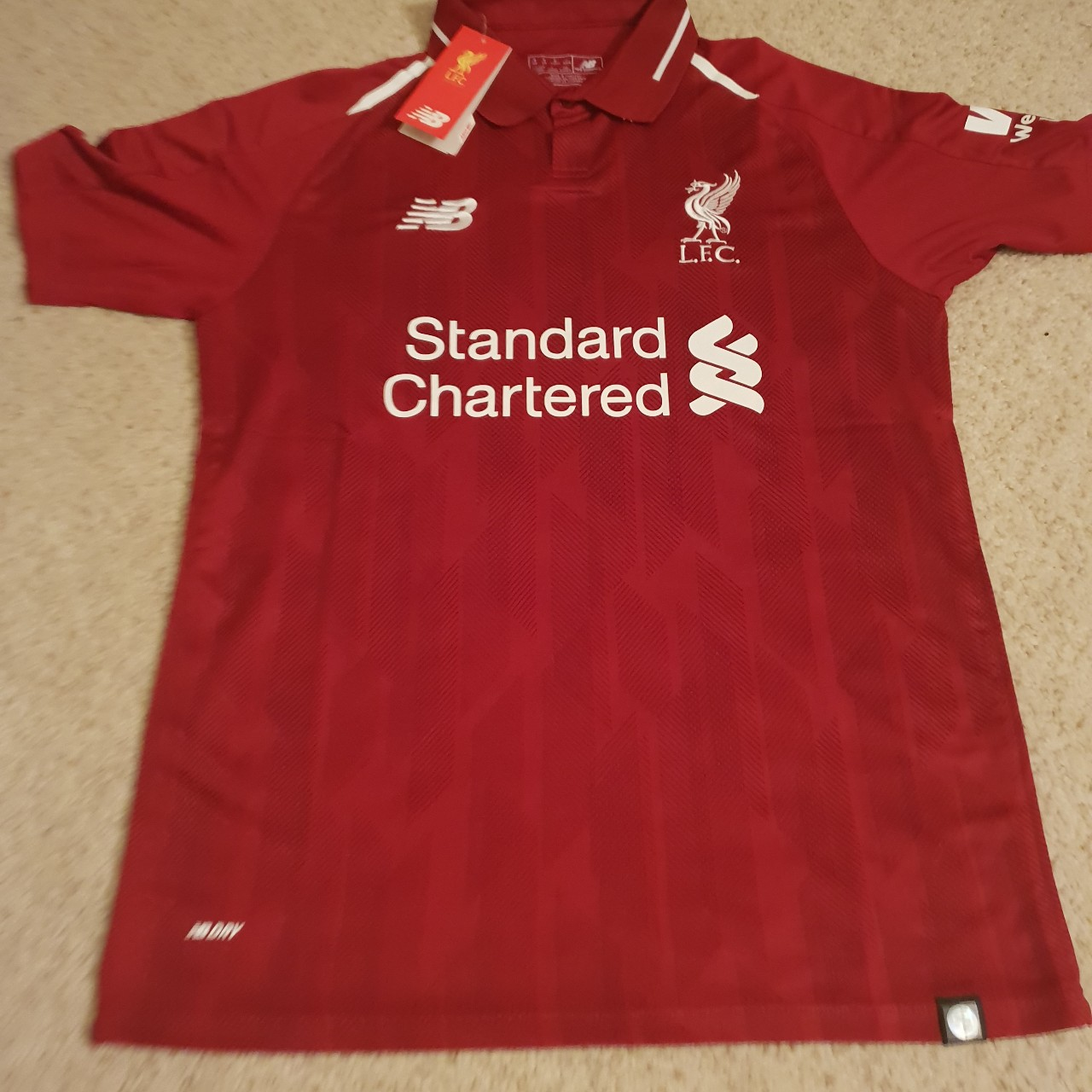 cheap for discount b6d78 7c501 Liverpool FC 18/19 Kit Size Medium With Tags. Fast... - Depop