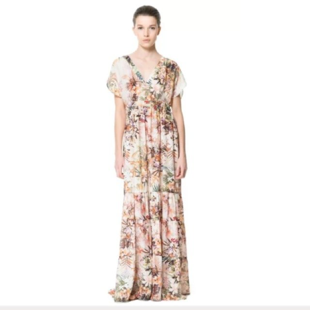 291fa15ae3d Zara. Floral maxi dress. Size small. Very flowy. Worn once - - Depop