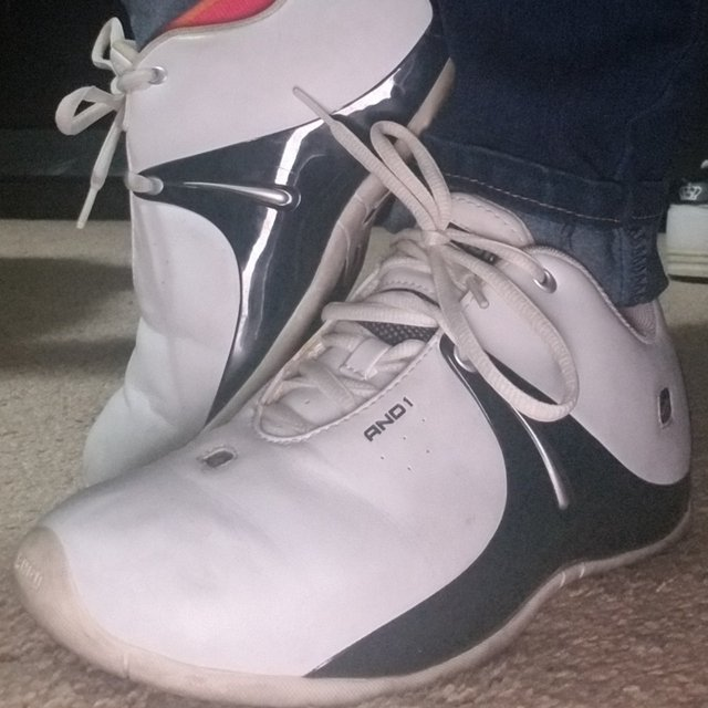 And1 old school basketball shoes from