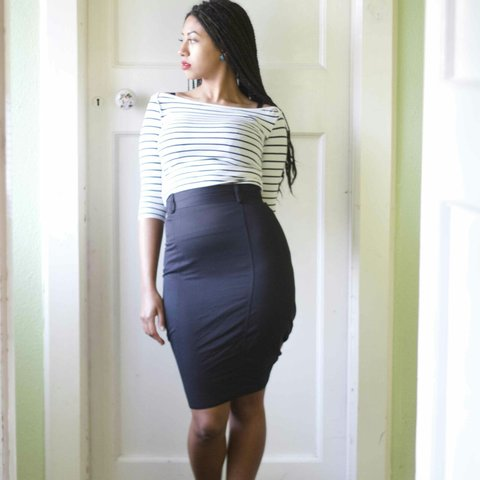 50ee6d4b5c @karenmiano. 4 years ago. Dublin, Ireland. Vintage black pencil skirt, size  10 ...