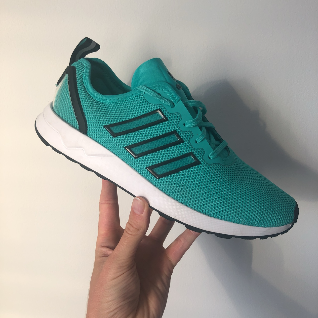 big sale 28cf7 e2ff3 Adidas ZX FLUX ADV Ladies trainers in Turquoise /... - Depop