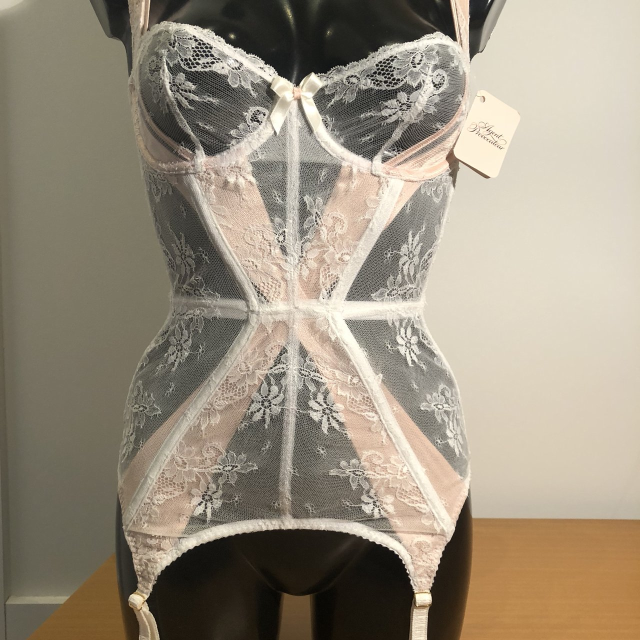dbcf26a42a2 Agent Provocateur Maddy Basque. White   Pink. New. Amazing - Depop
