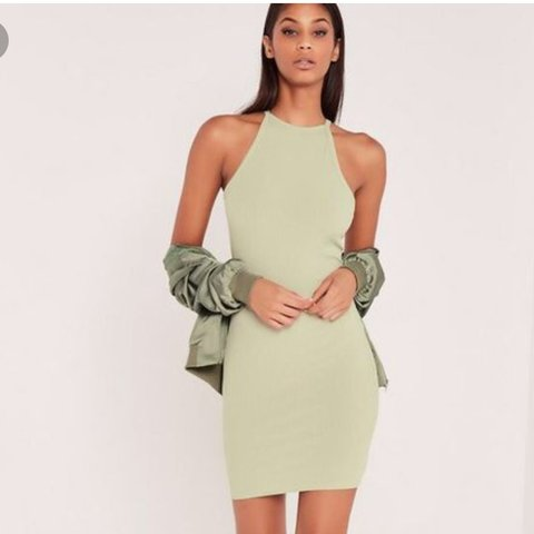 67b2180671089 Carli Bybel x Missguided Ribbed Pastel Mint Green Bodycom UK - Depop